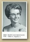 Staff Picture of Mary Stauffer from the 1965 Alexander Ramsey High School Yearbook